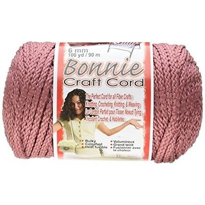 Pepperell Polyolefin Fiber Bonnie Macrame Craft Cord 6 Mmx 100 Yard-rose -