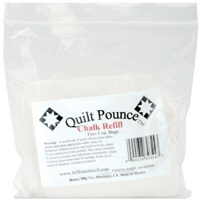 Hancy Chalk Quilt Pounce Refill-4oz White - Refill Oz