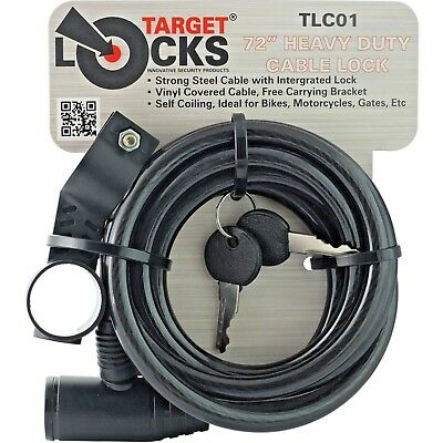 1Mx9mmx22m//1.5mx9mmx22mm 1M//1.5M BICYCLE CYCLE BIKE SECURITY CABLE COIL LOCK