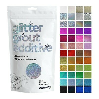 Hemway Glitter Grout Additives Tiles Mosaic 100g CHOICE OF 29 COLOURS AVAILABLE