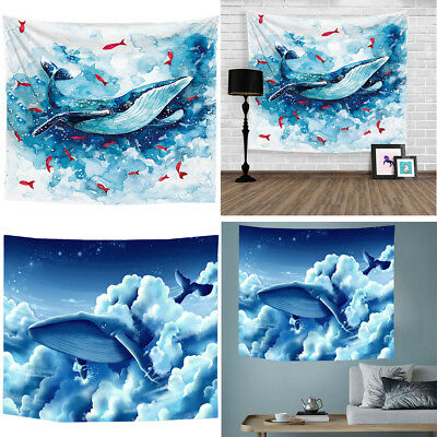 Whale Tapestry Wall Hanging Beach Blanket Digital Printing Home Room Decoration