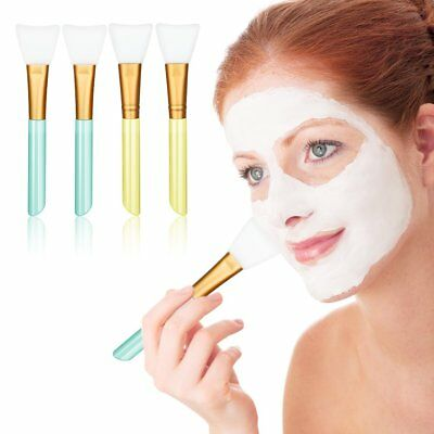 Professional 4 PCS Face Brush Mask Peel Tool Soft Silicone Facial Mud Applicator
