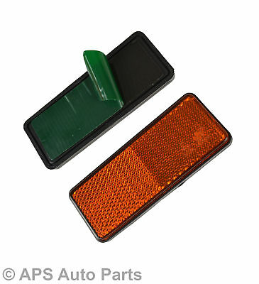 2x Orange Amber Rectangle Side Marker Reflector Trailer Caravan Van Truck Lorry