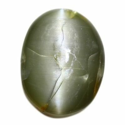 4.535 Ct Very Very Rare Natural Green Color  Chrysoberyl  Oval Cab  !!!