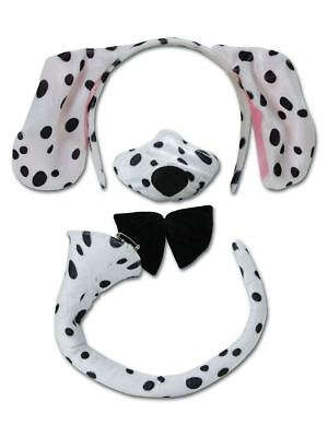 Childrens Dalmatian Dog Ears Nose Tail with Sound Animal Fancy Dress Set