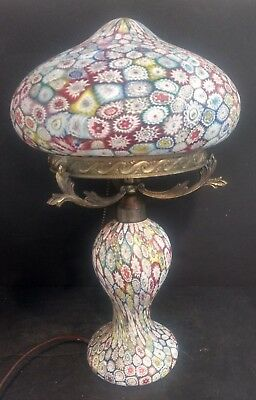 Mid Century Italian Fratelli Toso Millefiori Murano Glass Lamp Thousand Flowers 357 31 Picclick Uk