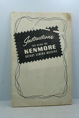 Vintage Kenmore Rotary Sewing Machine Instructions Booklet