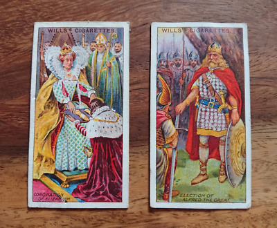"2 Cards W.D.&H.O. Wills, ""The Coronation Series"" N°1 & N°18 #E-250 (TC-93)"