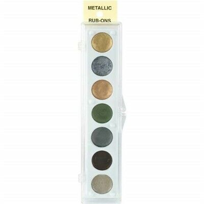 Craft Metallic Rub-on Paint Palette - 7 Colors-kit #2 - Rubon Colorskit 2