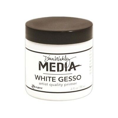 Dina Wakley Media 4 Oz Gesso Jar, White - 4 Jar