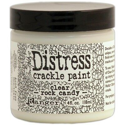 Distress Crckl Paint Clear - Ranger Tim Holtz 4 Oz Rock Candy Crackle