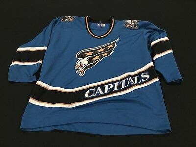 Vintage Starter Washington Capitals Embroidered Blue NHL Hockey Jersey