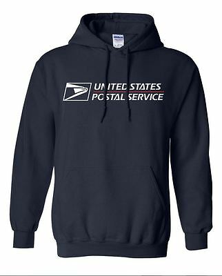 USPS POSTAL HOODIE HOODED SWEATSHIRT WITH POSTAL LOGO ON CHEST All Sizes S-3XL