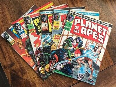 Planet Of The Apes 1-6 Comics Marvel