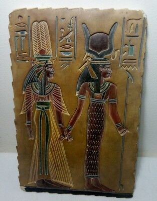 RARE ANCIENT EGYPTIAN ANTIQUE ISIS and OSIRIS Store Stela 1758-1458 BC
