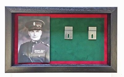 Large RUC Medal Display Case With Photograph For 5+ Medals. Black Frame