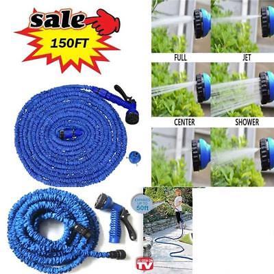 Water Magic Hose Pipe Expanding Expandable Flexible Garden Car Spray Gun New