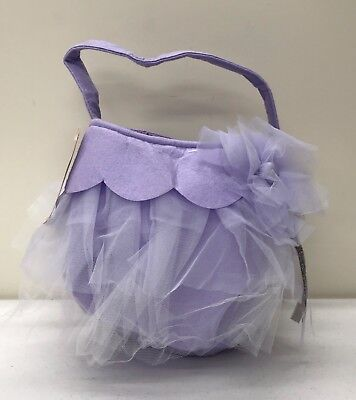 NEW Pottery Barn KIDS 'Felt & Tulle Halloween Treat Bag~Lavender