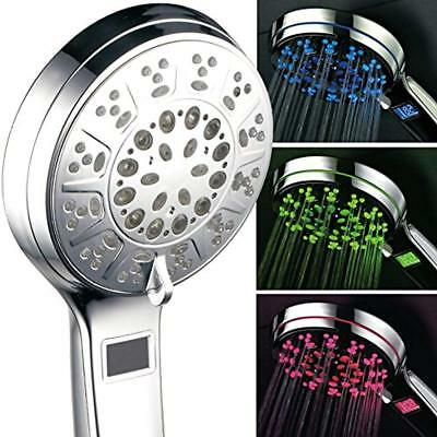 All Chrome Handheld Showerheads 5 Setting LED/LCD Shower-Head With Lighted By Of