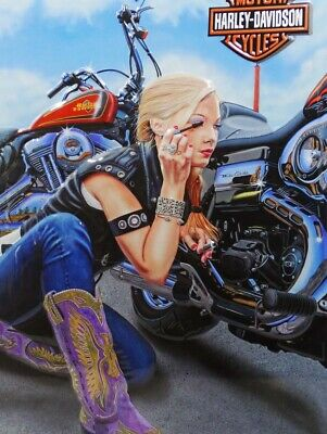 Finishing Touches Biker Harley Davidson Motorcycle Metal Sign