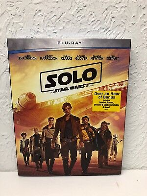 SOLO A STAR WARS STORY BLU-RAY 2018, NO Digital HD included. Ships fast