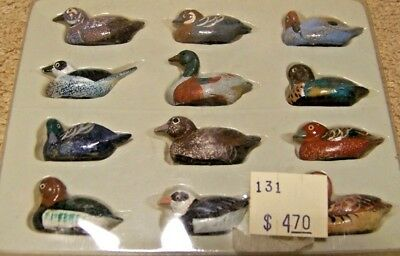 NEW Cute Miniature Set of 12 Assorted Wild DUCKS