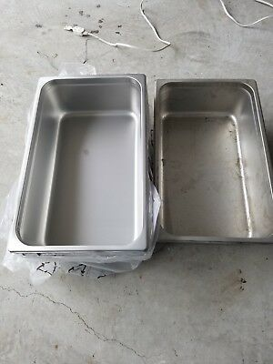 """(5-Pack) Full Size 6"""" Deep NSF Silver Stainless Steel Hotel Steam Table Pans"""