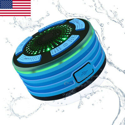 Waterproof Wireless Bluetooth Handsfree Mic Suction Speaker Shower Car Bathroom