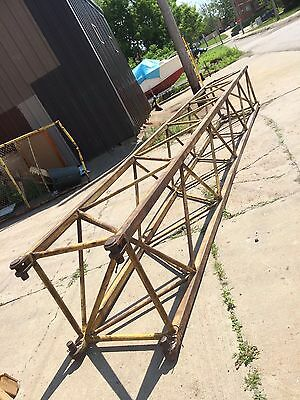 Antique Industrial Sculpture Huge 1940 Cleveland Shipyard Crane Boom truss