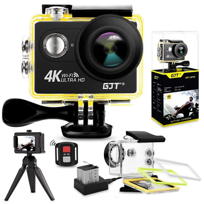 Action Camera 4K Sports WiFi,12MP Ultra HD Waterproof DV Camcorder LCD Screen US