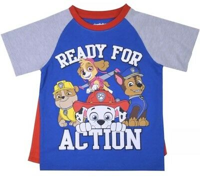 Nwt Toddler Boy Paw Patrol  Shirt With Detachable Cape Size 3T
