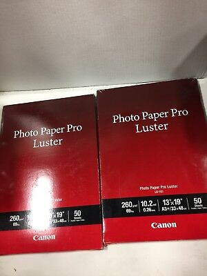 Pack Of 50 Sheets Canon Lu 101 Photo Paper Pro Luster 13 X 19