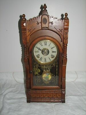 "Kroeber"" LANGTRY"" Walnut Mantel Clock"