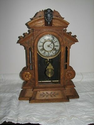 "New Haven ""CORSAIR"" Mantel Clock in Oak"