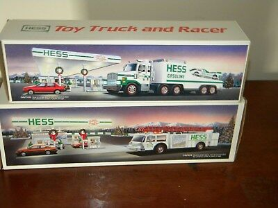 Hess trucks 1988 and 1989 new in box never used