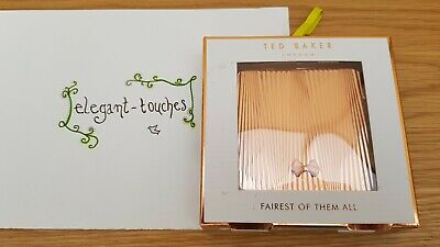 Ted Baker Elegant Rose Gold Double Sided Compact Mirror Gift (Purse Bag)