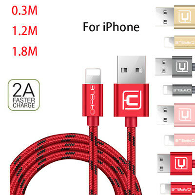 Heavy Duty Metal Braided Lightning USB Charger Cable 1M 2M 3M For iPhone X 7 6 5