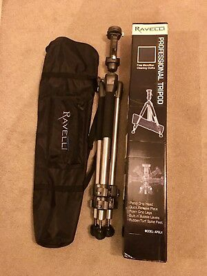 Barely Used Boxed Ravelli Professional Tripod And Bag APGL4 177cm