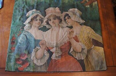 Campbell, Metzger & Jacobson Antique Lithograph Linen Print, 1904, The Muses