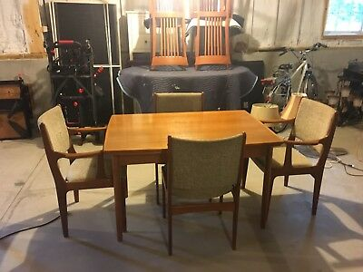 Scandinavian Style Teak Dining Table & Chair set - Mid Century Vintage Modern