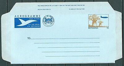 BOTSWANA OLD AIR LETTER AEROGRAMME 15t UNUSED -CAG 040717