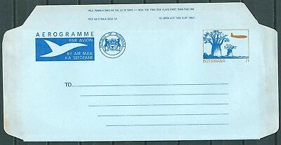BOTSWANA OLD AIR LETTER AEROGRAMME 7t UNUSED -CAG 040717