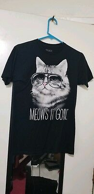 Black Matter Meow's it Goin' Cotton T-Shirt by Goodie Two Sleeves Size S