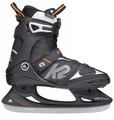 K2 Fit Ice Boa Men's Ice Skates, Men, FIT ICE BOA, black/orange 6 UK 39.5 EU