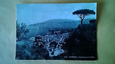 Vintage 1951 Sorrento Panorama Italy view from Sant' Antonio - POSTED