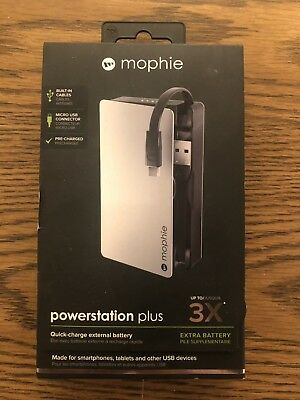 Mophie Power-Station Plus, Android Devices, Micro USB 3x, Battery - Grey