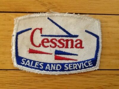 Cessna Sales and Service Embroidered Patch Airplane Aircraft Aviation 3.5 X 2.5