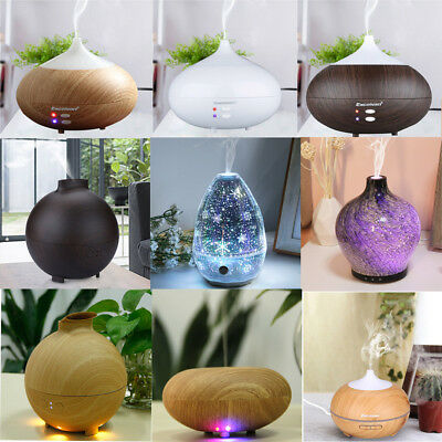 280-500ml LED Oil Ultrasonic Aroma Aromatherapy Diffuser Air Humidifier Purifier