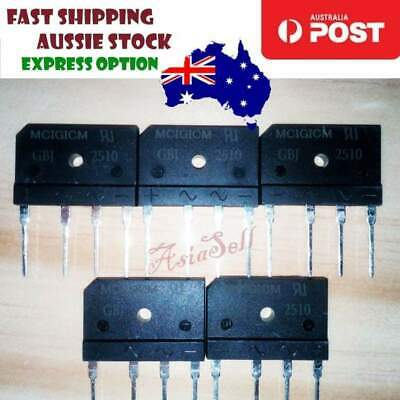 5pcs 25A 50V-1000V Diode Bridge Rectifier GBJ2510