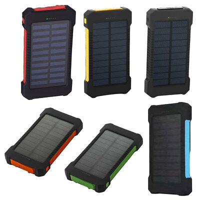 Compass Waterproof Solar Mobile Power 6000m Mobile Phone Charging Treasure 1PCS